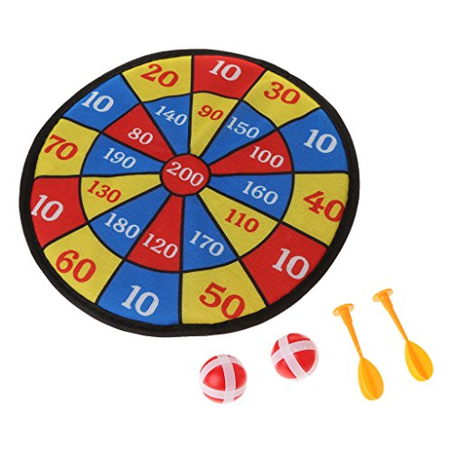 Forgun Sports Toys Fabric Dart Board Set Kid Ball Target Game for Children Security Toy