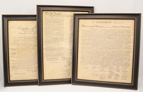 Constitution Framed (Framed Constitution, Bill of Rights, and Declaration of Independence; Set of 3)