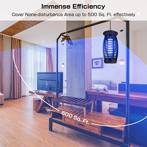 2018 Upgraded Electric Bug Zapper, Insect Killer, Mosquito Trap, Fly Gnat Trap with 120V UV Bug Light/500 Sq Ft Coverage for Home Office Store Indoor by Eastoan (Image #2)