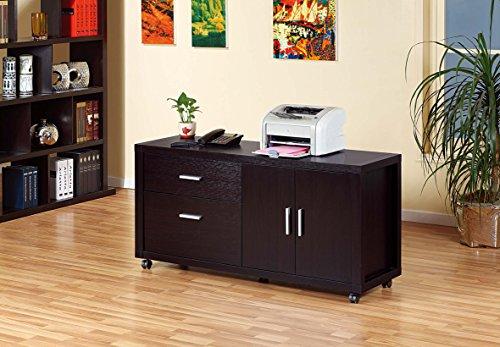Espresso File Carts (Smart Home Attwell File Credenza Mobile File Cabinet Organizer (Espresso))