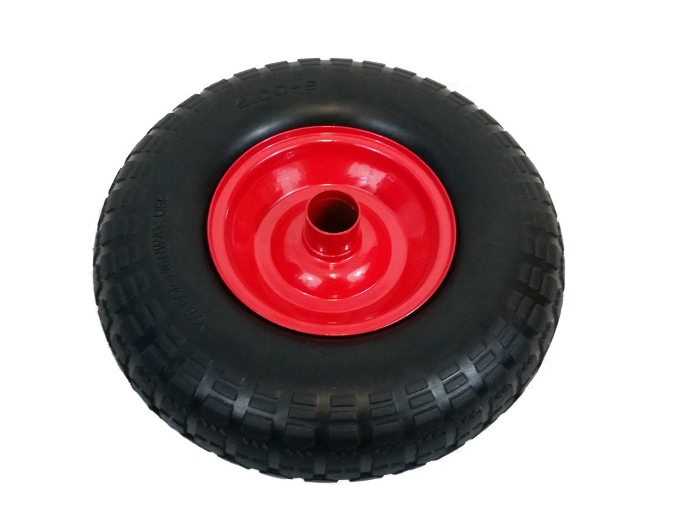 """Wheelbarrow Wheel Replacement PINK Solid Wheel Made In UK No More Punctures 12/"""""""