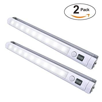 VIBELITE 9 LED Motion Sensing Closet Lights, 2 Pack DIY Stick On Anywhere  Portable