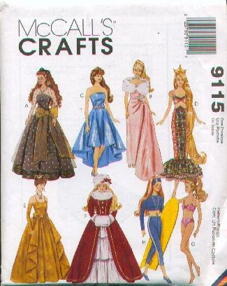 McCall's 9115 - 11.5-Inch Fashion Doll Wardrobe - Patterns for 8 Outfits (McCall's Crafts) -