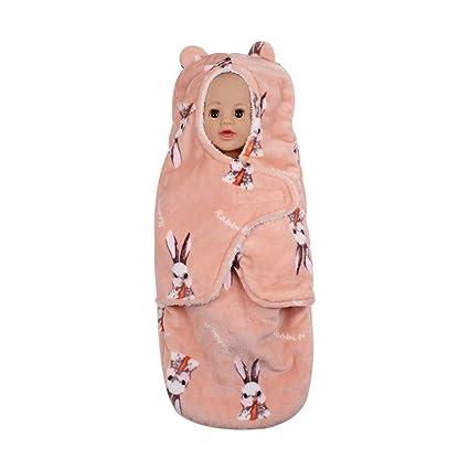 Mitlfuny Saco de Dormir para Bebé Niños Invierno Cálido Manto Recién Nacido Franela Forro Polar Velcro Swaddle Wrap Dibujos Animados Manta Envolvente ...