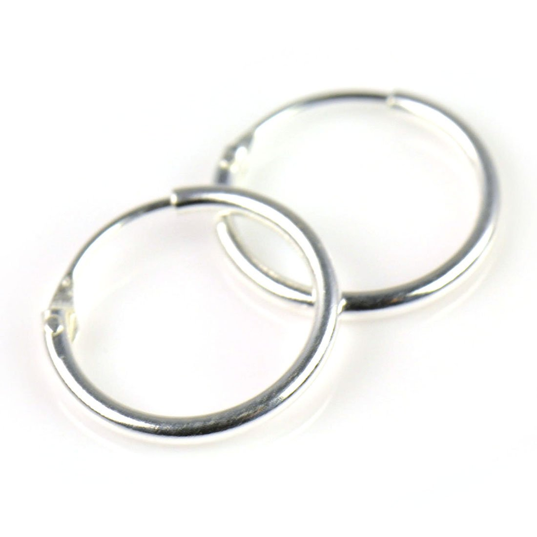 sterling high silver jewelry tone all huggie view zirconia earrings flat cubic ag polished bling hoop az jewellery