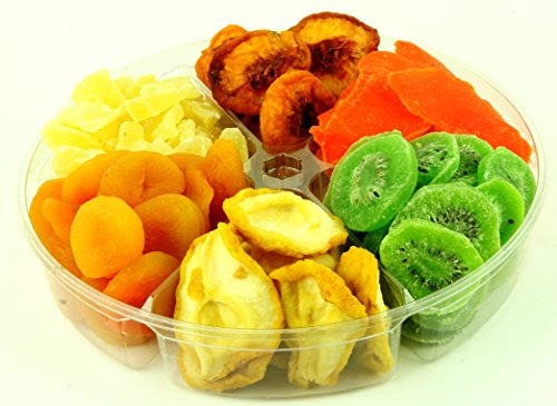Gourmet Assorted Fresh Dried Fruits Tray, Gift Basket (6 Section) (Vegetable Gift Basket)