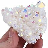 mookaitedecor Titanium Coated Natural Rock Crystal