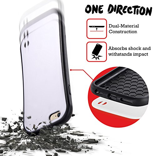 Officiel One Direction Niall Horan Violet Motifs Griffonnage Visage Étui Coque Hybride pour Apple iPhone 6 / 6s