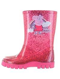 Peppa Pig Glitter Pink Make A Wish Wellington Boots UK Sizes 4 -10