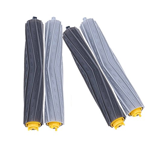 DoubleSun Tangle-Free Debris Extractor Roller Replacement Parts-2 Pairs of Rollers For iRobot Roomba 800&900 Series(890 891 894 860 861 864 880 870 980 960 961 964 (891 Series)