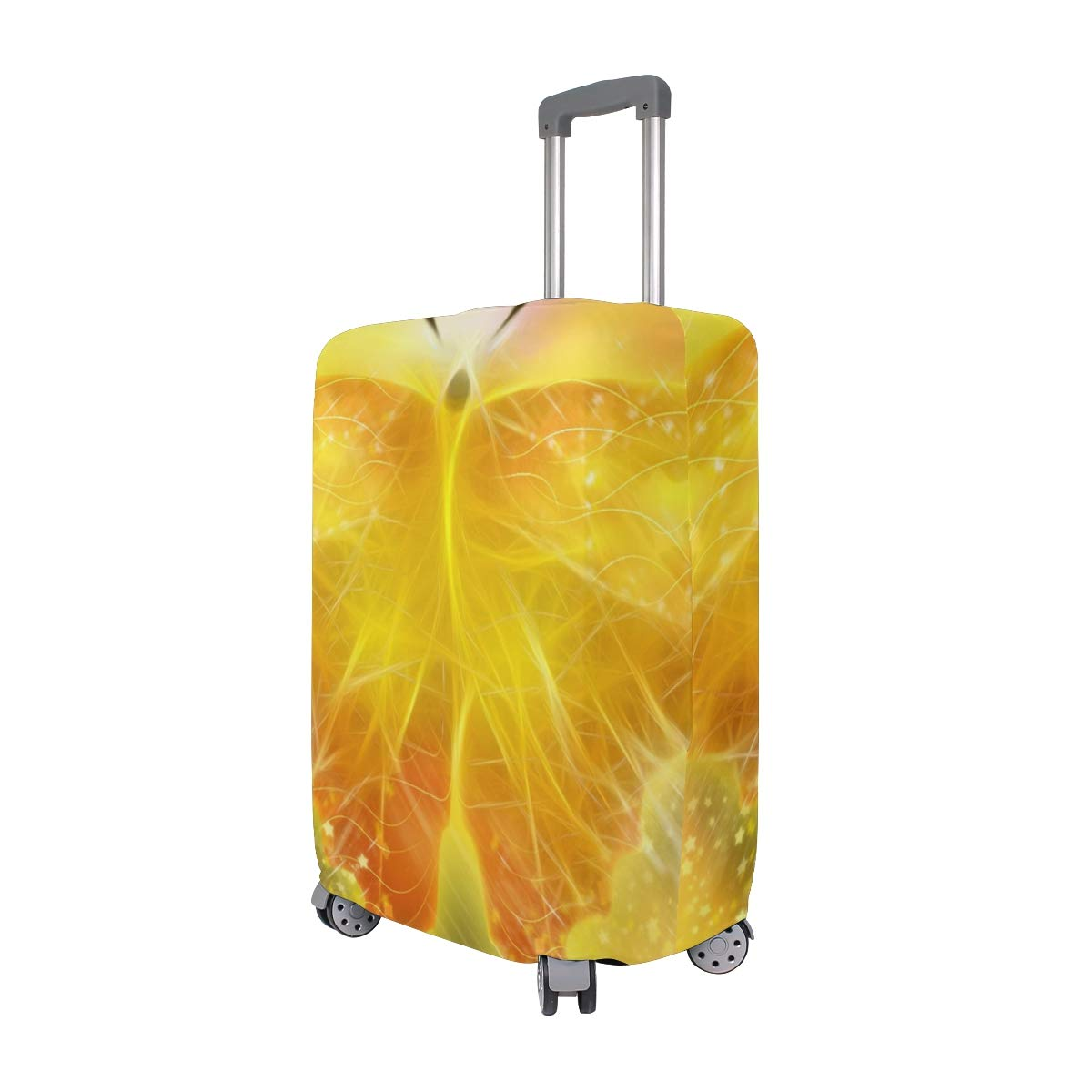 Beautiful Golden Light Butterfly suitcase cover elastic suitcase cover zipper luggage case removable cleaning suitable for 29-32 trunk cover