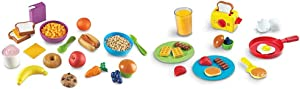 Learning Resources New Sprouts Munch It! Pretend Play Food, Toddler Outdoor Toys, Picnic Playfood, 20 Pieces & Pretend & Play Rise & Shine Breakfast Play Food, 21 Piece Set, Ages 3+, Multicolor