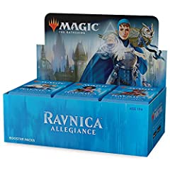 A booster box contains 36 booster packs of Ravnica allegiance, the follow-up to the hit expansions guilds of Ravnica and core Set 2019. Each booster pack contains 15 magic cards (540 cards total). pick your favorites, put them in your deck, a...