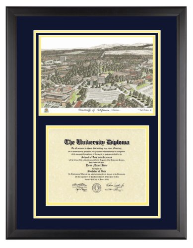 UC IRVINE Diploma Frame with Artwork in Classic Black Frame