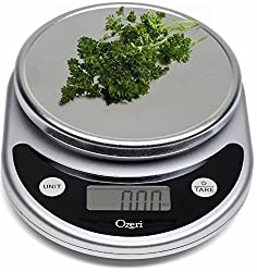 Ozeri Zk14-s Pronto Digital Multifunction Kitchen & Food Scale, Elegant Black