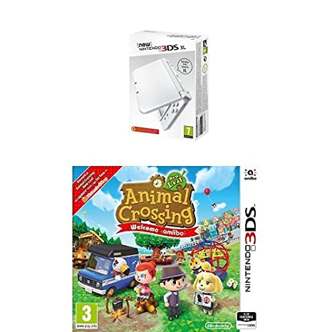 New Nintendo 3DS XL Color Blanco Perla + Animal Crossing: New Leaf ...