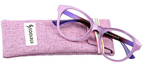 d1b5a812367 SOOLALA Lovely Hit Color Oversized Clear Lens Eye Glasses Frame Wide Reading  Glasses