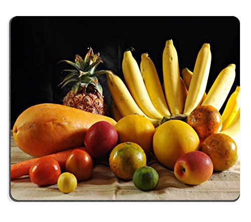 Luxlady Natural Rubber Gaming Mousepads bananas in the fruit IMAGE ID 25444273
