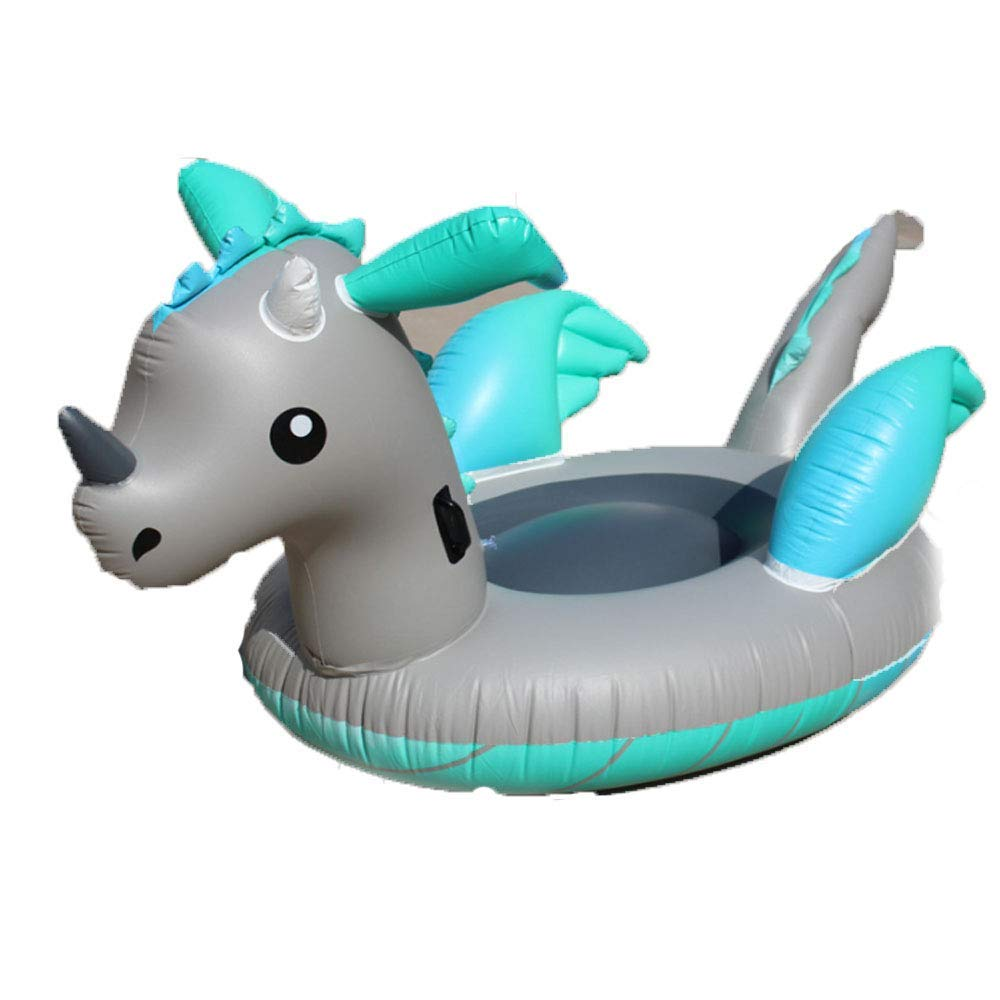 Nwbdqc Inflatable Dragon - Pool Lounger for Adults Kids 220 150 110cm,Outdoor and Indoor Vacation Beach Lounge Pool Floats by ankt777