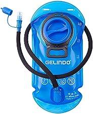 Gelindo 2 Liter Hydration Bladder Water Bladders BPA-Free Hydration Reservoir Leak-Proof, Quick Release Insula