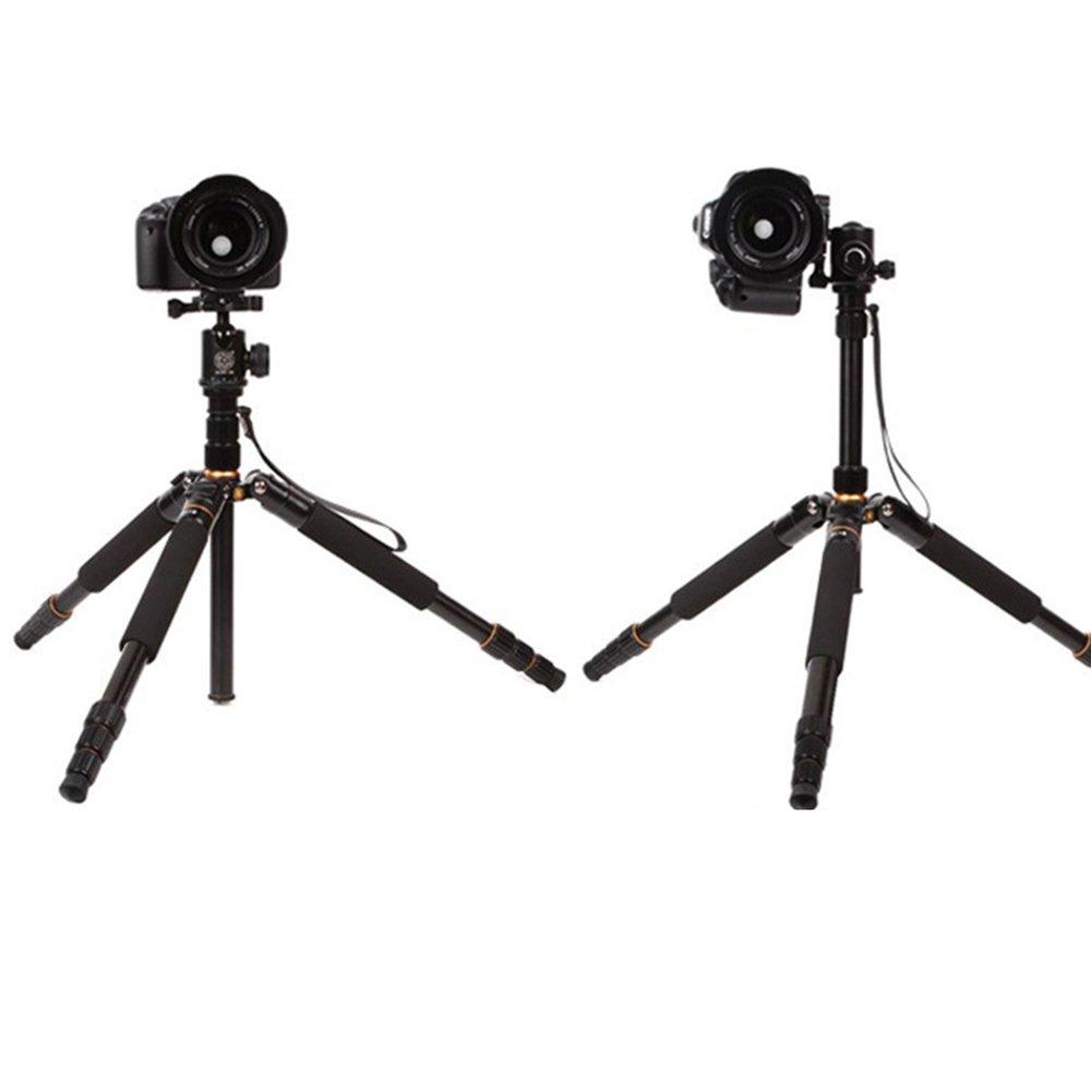 Andoer Q999S Pro Tr/ípode Detachable Changeable Monopod con QZSD-06/Cabezales de Bola para Camera SLR port/átil