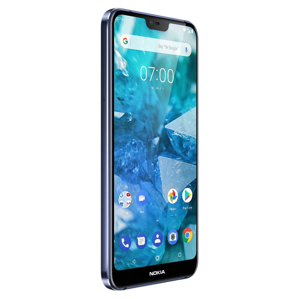 Nokia 7.1 - Android 9.0 Pie - 64 GB - 12+5 MP Dual Camera - Dual SIM Unlocked Smartphone (at&T/T-Mobile/MetroPCS/Cricket/H2O) - 5.84'' FHD+ HDR Screen - Blue - U.S. Warranty by Nokia (Image #3)