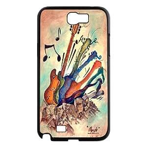FOR Samsung Galaxy Note 2 Case -(DXJ PHONE CASE)-Love Guitar,Love Music-PATTERN 1
