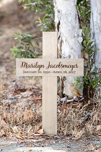 Cross Gravestone - Memorial Cross Personalized for Your Loved