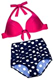 Angerella Women Swimwear Polka Vintage High Waisted