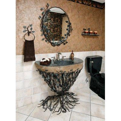 Organic Suites Embracious Aspen Forest Iron Pedestal Bathroom Sink Sink Finish: Black Sink Size: 33quot 40quot