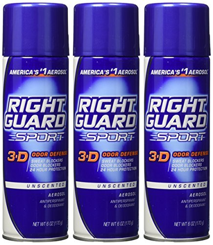 Review Right Guard Sport Unscented Anti-perspirant Deodorant Aerosol 6 Oz ( Pack of 3) by Right Guard