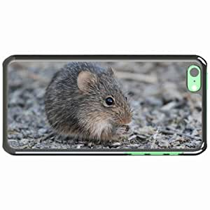 iPhone 5C Black Hardshell Case mouse rodent bites mouse Desin Images Protector Back Cover