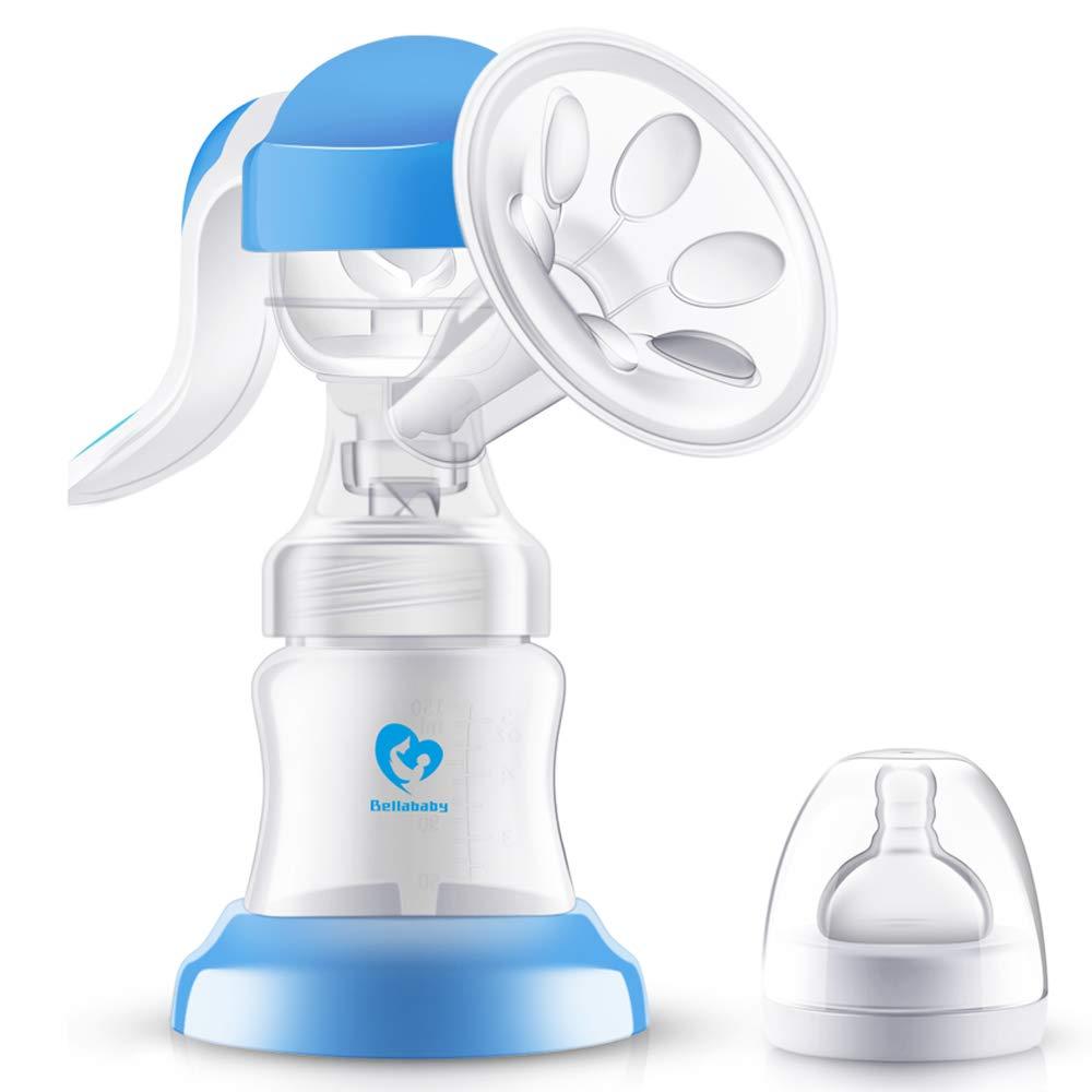 Bellababy Manual Breast Pump 270° Rotatable Soft and Powerful Suction BPA Free HUIYOO