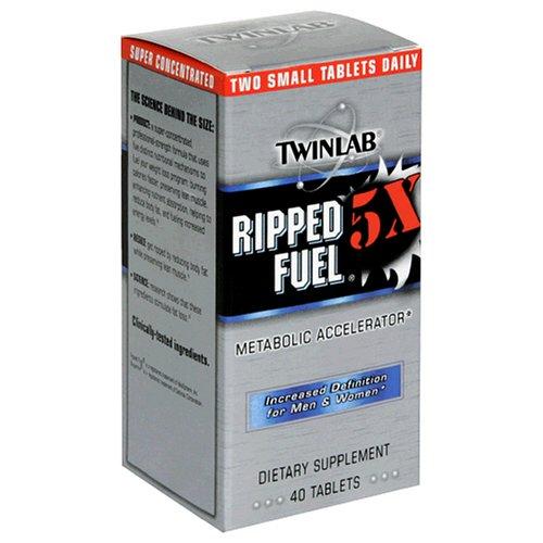 Twinlab Ripped Fuel 5X Définition accrue pour les hommes et les femmes, 40 comprimés