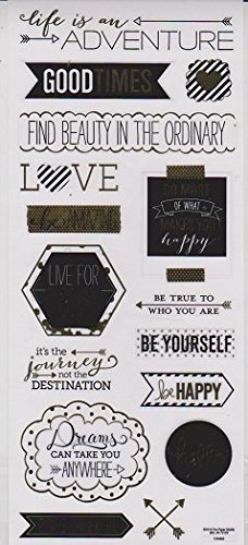 Stickabilities Sticker Sheet - Gold Foil Inspiration Phrases