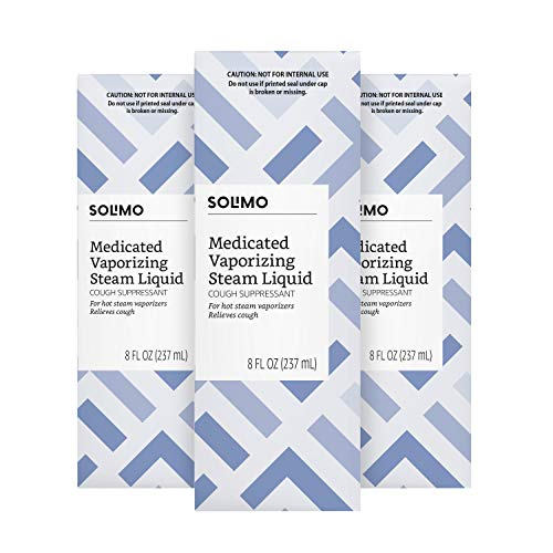 Amazon Brand - Solimo Medicated Vaporizing Steam Liquid Cough Suppressant, 8 Fluid Ounce (Pack of 3)