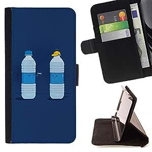 For Samsung Galaxy S6 - Funny Water Duel /Funda de piel cubierta de la carpeta Foilo con cierre magn???¡¯????tico/ - Super Marley Shop -