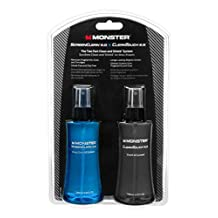 Monster ScreenClean 2.0 and CleanTouch 2.0, Clean and Shield System Kit (180ml each), Large
