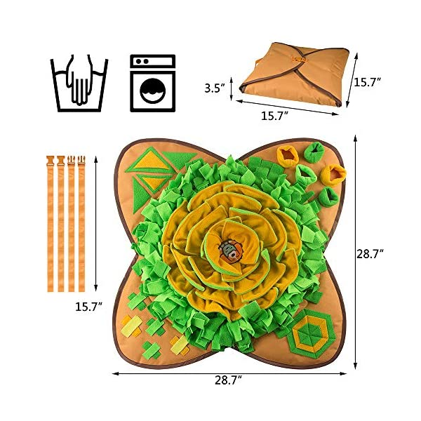 Aijiaye Dog Puzzle Toys, Pet Snuffle Feeding Mat, Interactive Game for Boredom, Encourages Natural Foraging Skills for Cats Dogs Portable Travel Use, Dog Treat Dispenser Indoor Outdoor Stress Relief 6