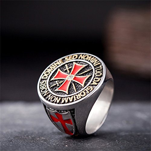 Coostuff 316L stainless steel titanium mens rings, Knights