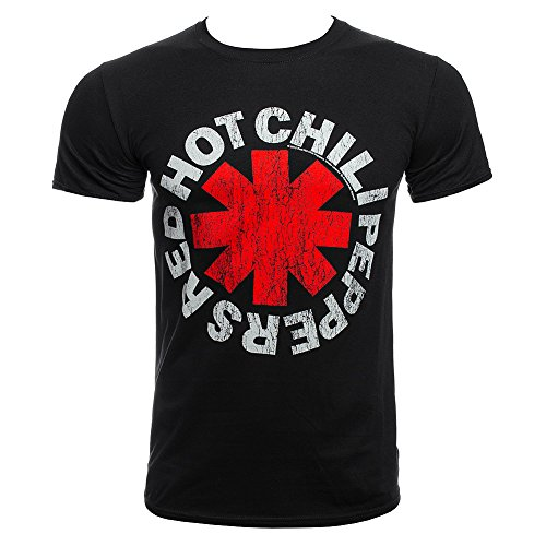 Red Hot Chili Peppers Vintage Distressed Asterisk Logo T-Shirt-XXL (Rock Band Red Hot Chili Peppers Dlc)