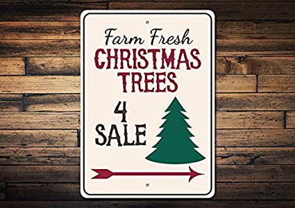 trees for sale christmas tree metal signs vintage funny aluminum tin signs outdoor metal wall plaque - Vintage Outdoor Christmas Decorations For Sale