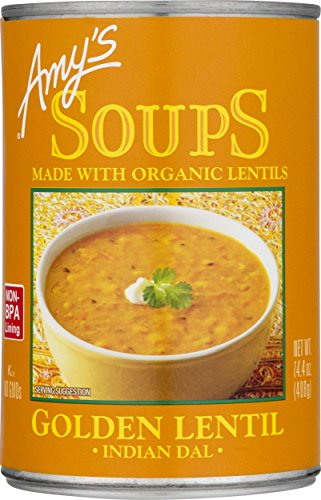 Amy's Soups, Organic Indian Golden Lentil Soup, 14.4 Ounce