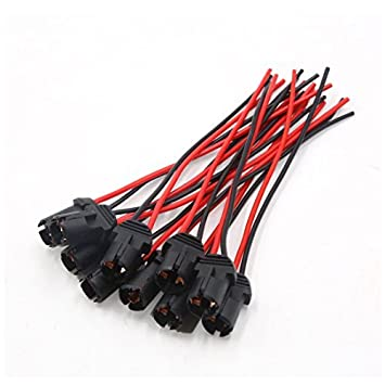 Phenomenal Dealmux 10Pcs Round Car T10 Light Lamp Bulb Extension Wiring Harness Wiring Digital Resources Remcakbiperorg
