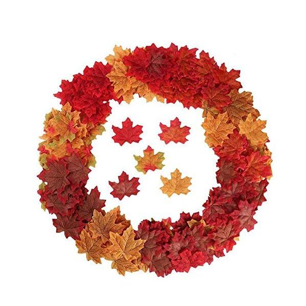YSBER-200-500-PCS-Artificial-Silk-Maple-Leaves-Wedding-Party-Decoration-Kids-Scrapbook-Accessories-3D-Wall-Sticker-Ornament