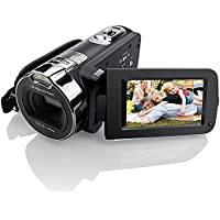 Camera Camcorders, Eamplest HD 1080P 24MP 16X Digital Zoom Video Camcorder with 2.7 LCD and 270 Degree Rotation Screen Support LED Fill Light and Face Detection Function (HDV-312P)