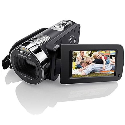 Camera Camcorders, Eamplest Full HD 1080P 24MP 16X Digital Zoom Video Camera Camcorder with 2.7