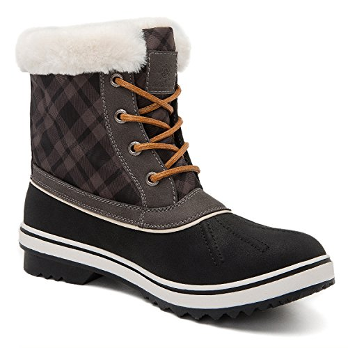 Global Win GLOBALWIN Womens 1632 Black Grey Snow Boots 1727black/Grey lRqwiV