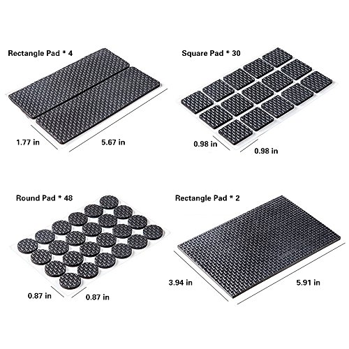 Delicate FireBee Rubber Furniture Pads Non Slip Heavy Duty Adhesive Furniture  Leg Pads To Protect Hardwood