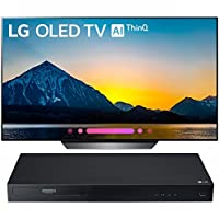 LG 55 Class B8 OLED 4K HDR AI Smart TV 2018 Model (OLED55B8PUA) with LG Streaming 4k Ultra-HD Blu-Ray Player with Dolby Vision